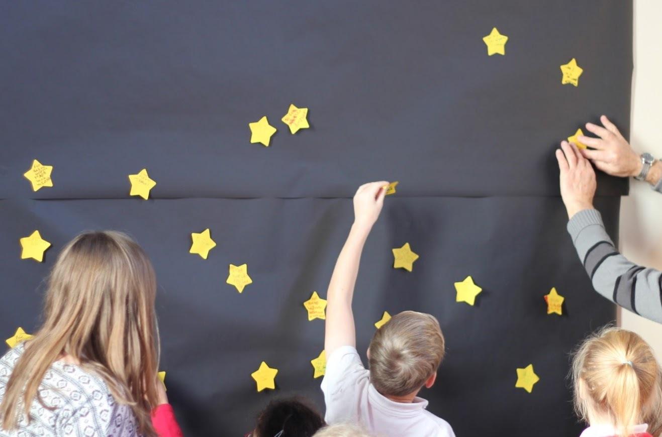 Sticking stars on the night sky