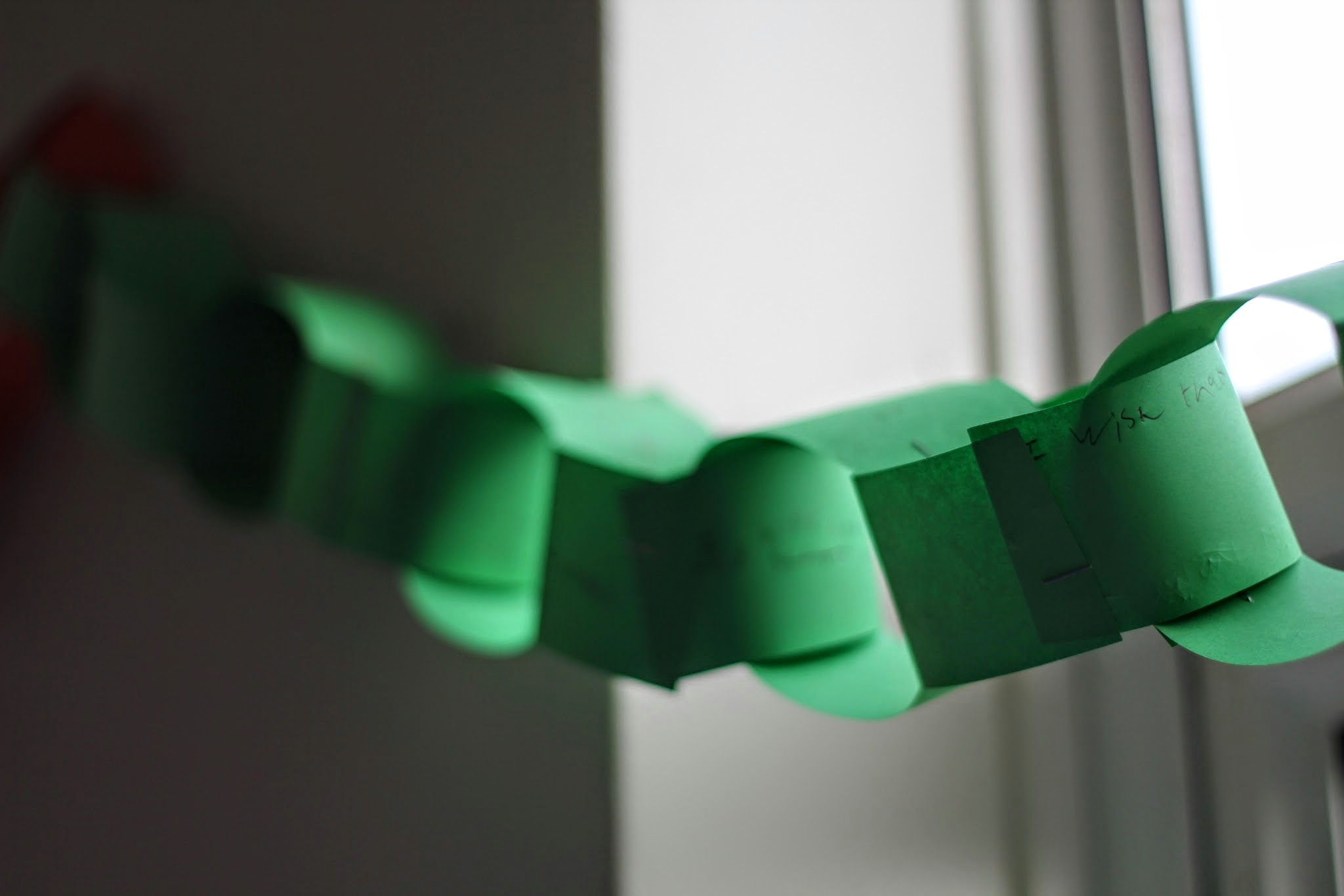 Paper-chains representing our hopes & dreams